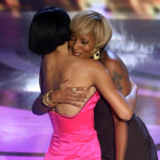 Rihanna Honors Mary J. Blige At The BET Awards In Reminiscent Red Hair