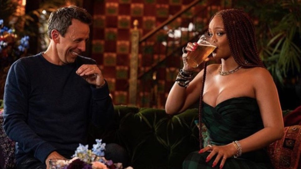Rihanna Day Drinks With Seth Meyers In Upcoming 'Late Night' Episode