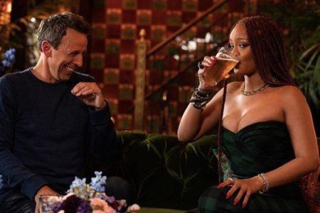 Rihanna Day Drinking With Seth Meyers Is #SummerGoals