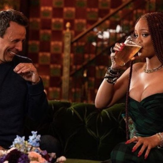 Rihanna Day Drinking With Seth Meyers Is #SummerGoals