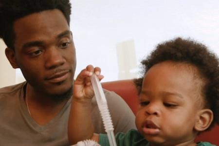 Viral Father and Talking Baby Duo Star In New Denny's Commercial
