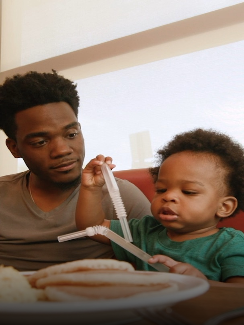 Viral Father And Talking Baby Star In New Denny's Commercial