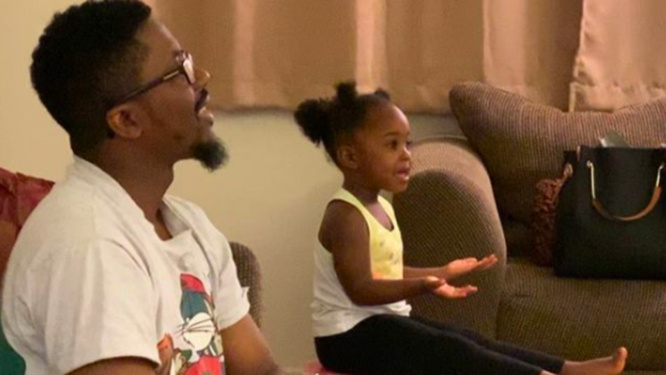 Adorable Baby Goes Viral After Mimicking Her Dad's Basketball Commentary