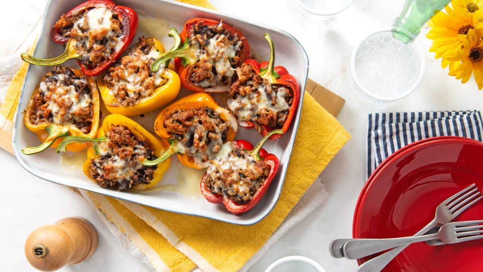 This Black Bean and Rice Stuffed Peppers Recipe Will Leave Your Mouth Watering