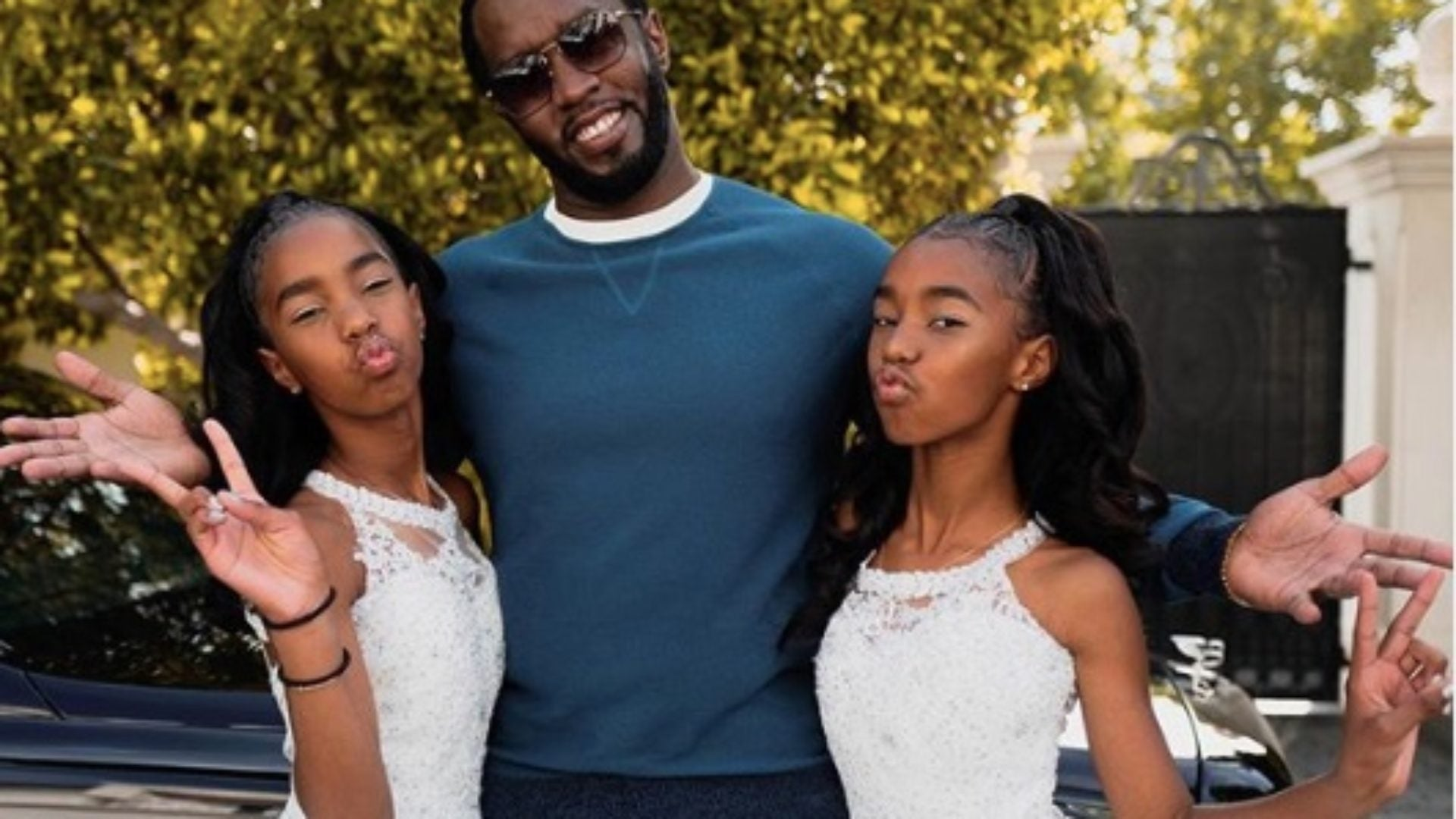 Diddy and family celebrate the twins graduation