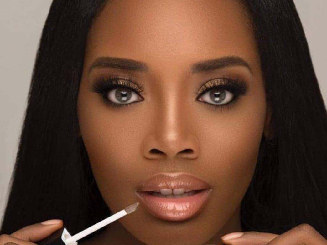 Sexy ebony lips