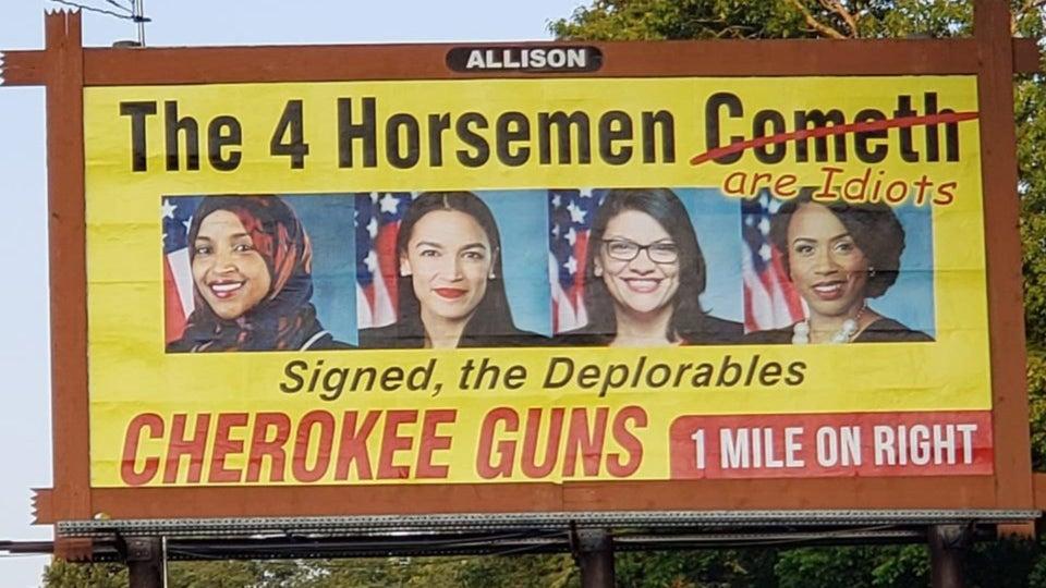North Carolina Gun Shop Puts Up Billboard Calling 'The Squad' Idiots