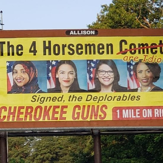 North Carolina Gun Shop Puts Up Billboard Calling 'The Squad' Idiots