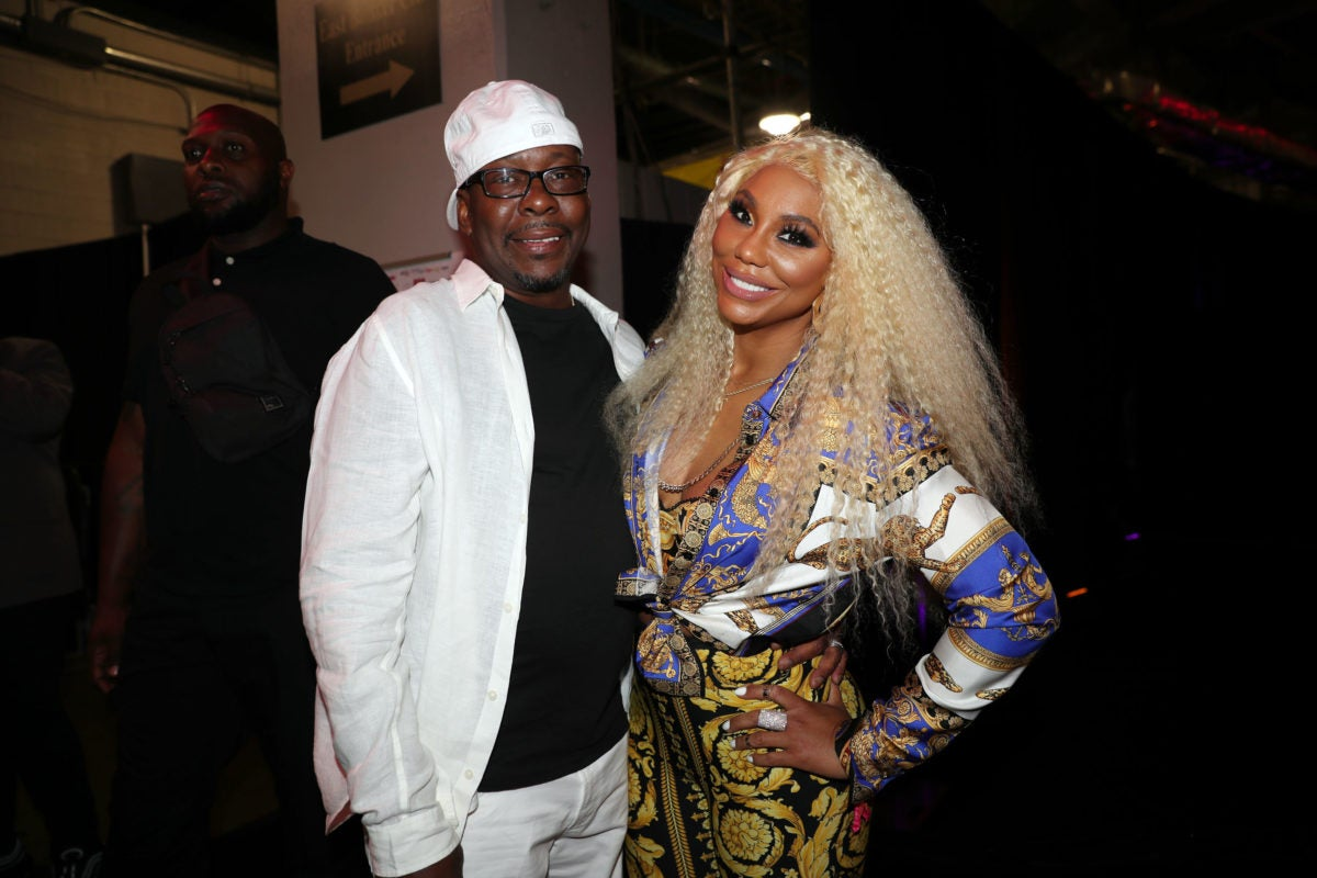 Bobby Brown (L) and Tamar Braxton
