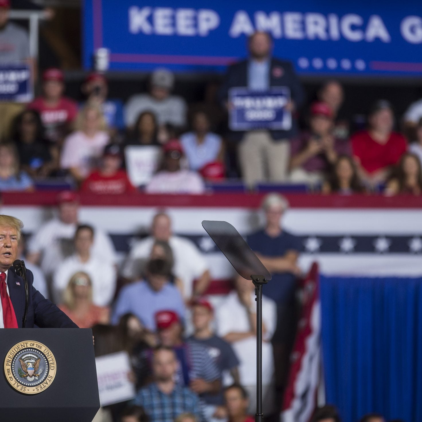 Trump Says He 'Felt A Little Bit Badly' About Supporters Chanting 'Send Her Back' About Rep. Ilhan Omar