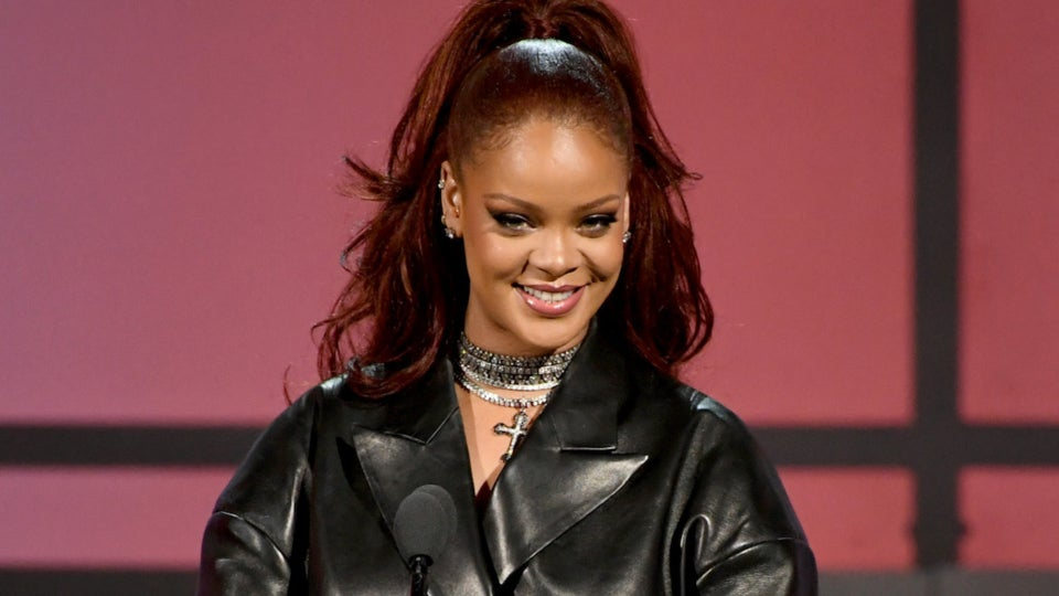 Rihanna Shares Tearful Reunion With High School Teacher Roddy Estwick