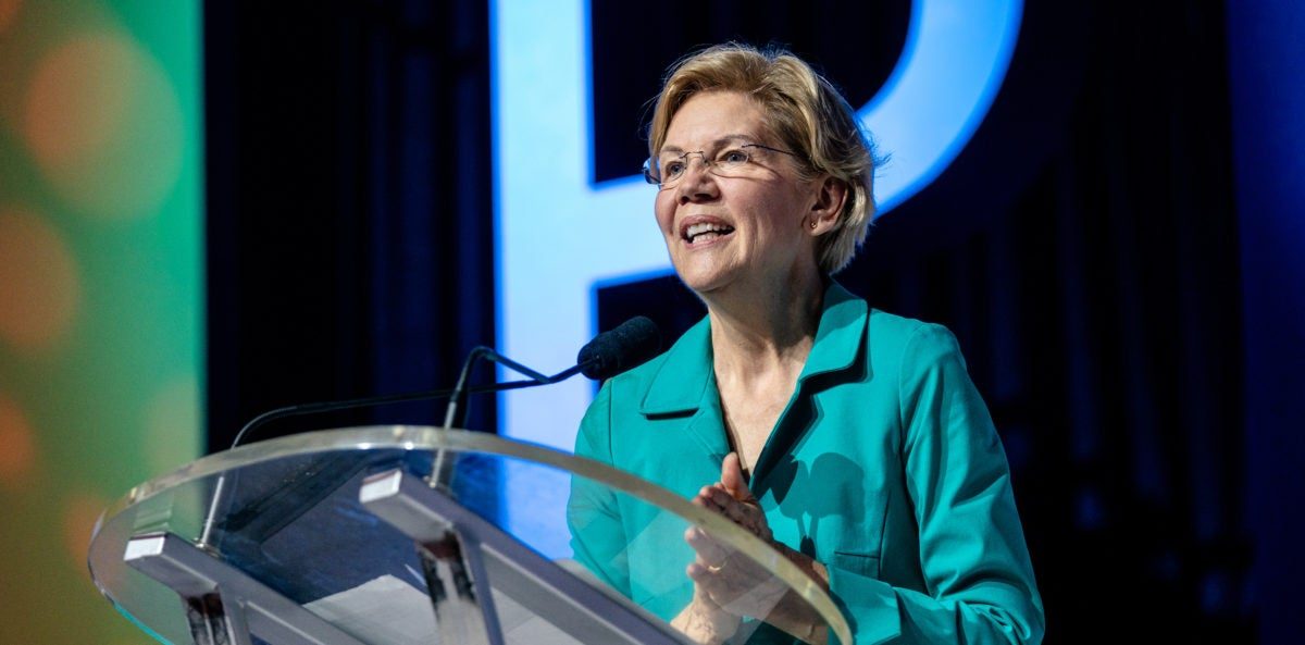 Elizabeth Warren addresses attendees at Essence Festival in New Orleans, discusses climate justice