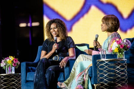 Michelle Obama In Conversation With Gayle King At Essence Festival