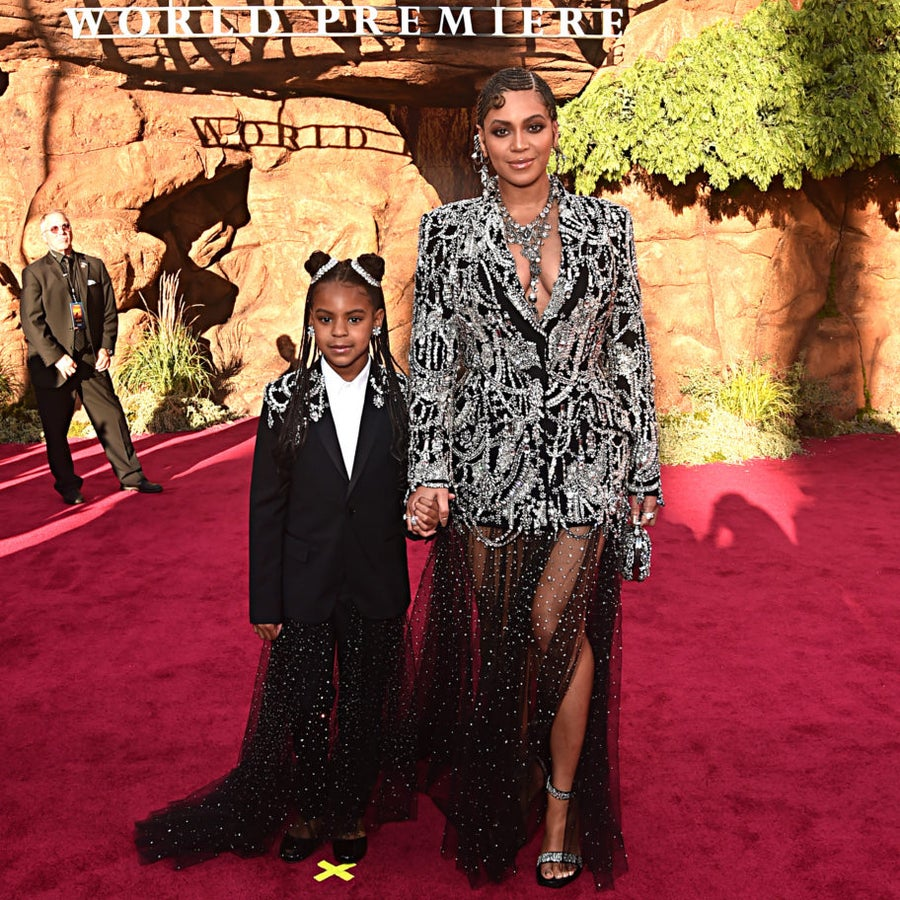 Beyoncé And Blue Ivy Sparkle At 'Lion King' Premiere