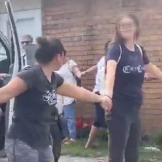 Neighbors Formed A Human Chain To Protect Undocumented Man That ICE Tried To Arrest
