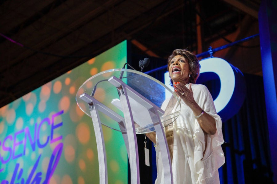 Rep. Maxine Waters Delivers Stirring Speech At Essence Fest ...