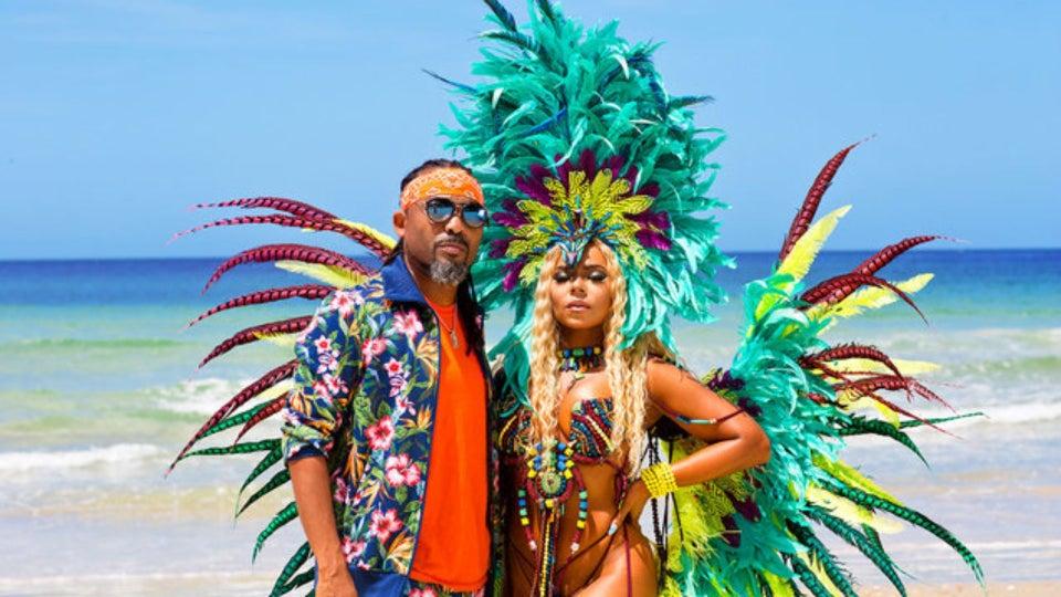 Ashanti Stuns In Carnival-Themed Music Video With Soca King Machel Montano