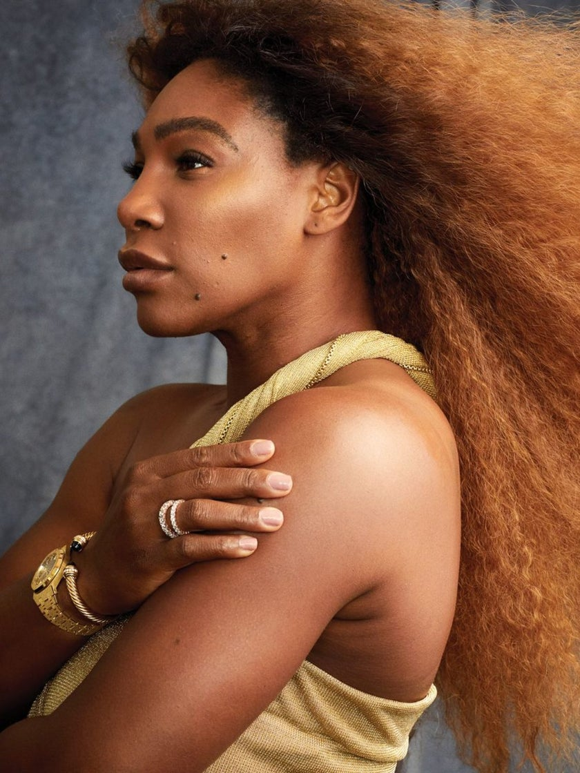 Serena Williams' Harper's Bazaar Cover Is Pure Golden, Unretouched Magic