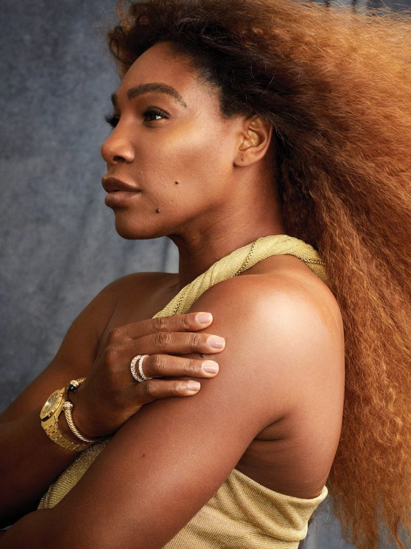 Serena Williams' Harper's Bazaar Cover Is Pure Golden, Unretouched Magic