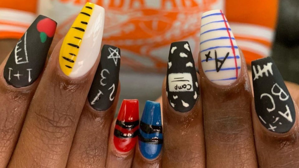 These Nails Bring The Fun To Going Back To School