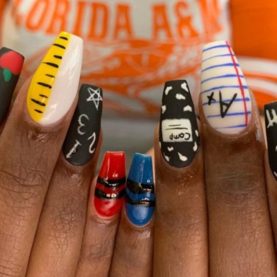 These Fun Nails Bring Creativity To Back-To-School Beauty