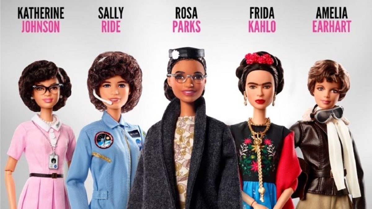 Mattel introduces a line of iconic women Barbies, including Rosa Parks and Katherine Johnson, as part of their Inspiring Women Series