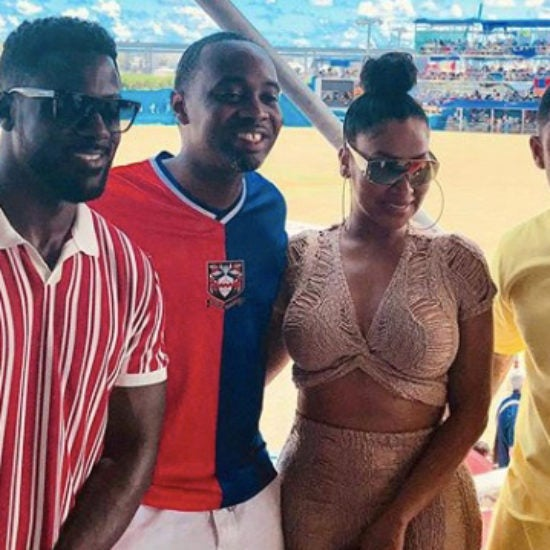 Terrence J, Lance Gross, La La Anthony Spotted At The Cup Match In Bermuda