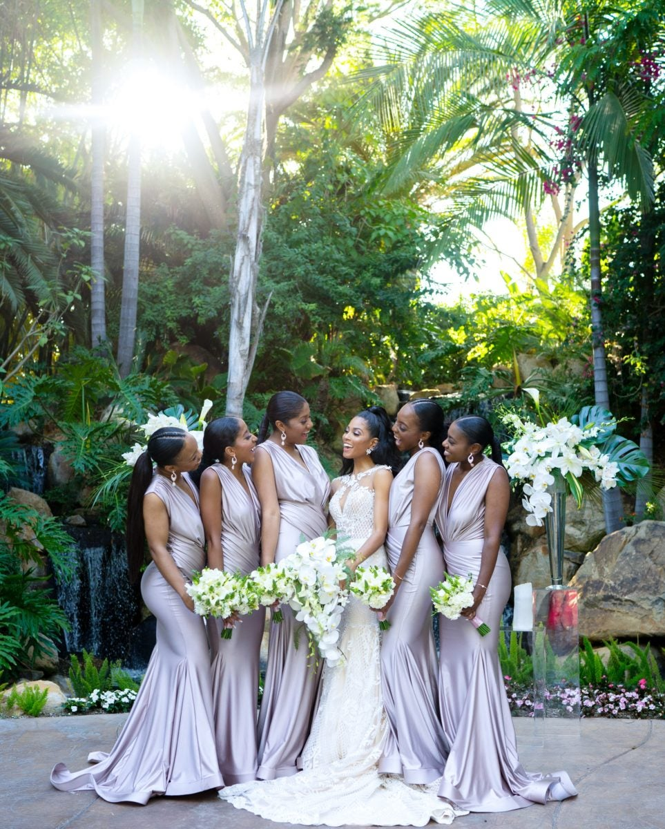 Actress Lex Scott Davis and Her Bridesmaids