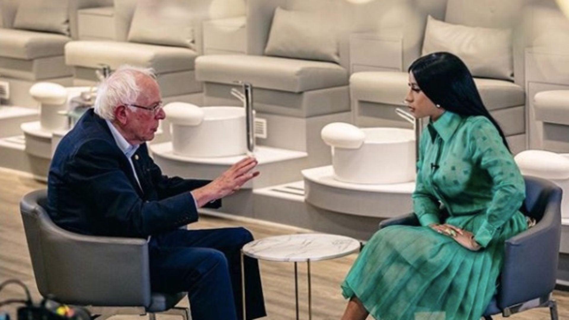 Cardi B Talks Wages And Jobs With Presidential Hopeful Bernie Sanders