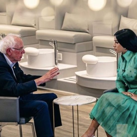 Cardi B Talks Wages And Jobs With Presidential Hopeful Bernie Sanders