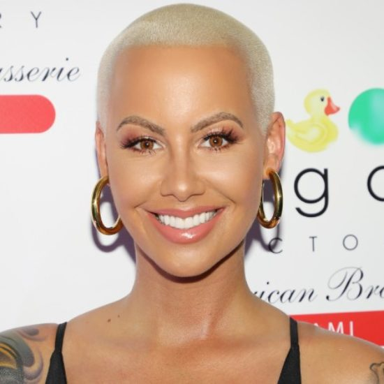 Amber Rose Shows Off Her Growing Baby Bump and Beautiful Black Hair