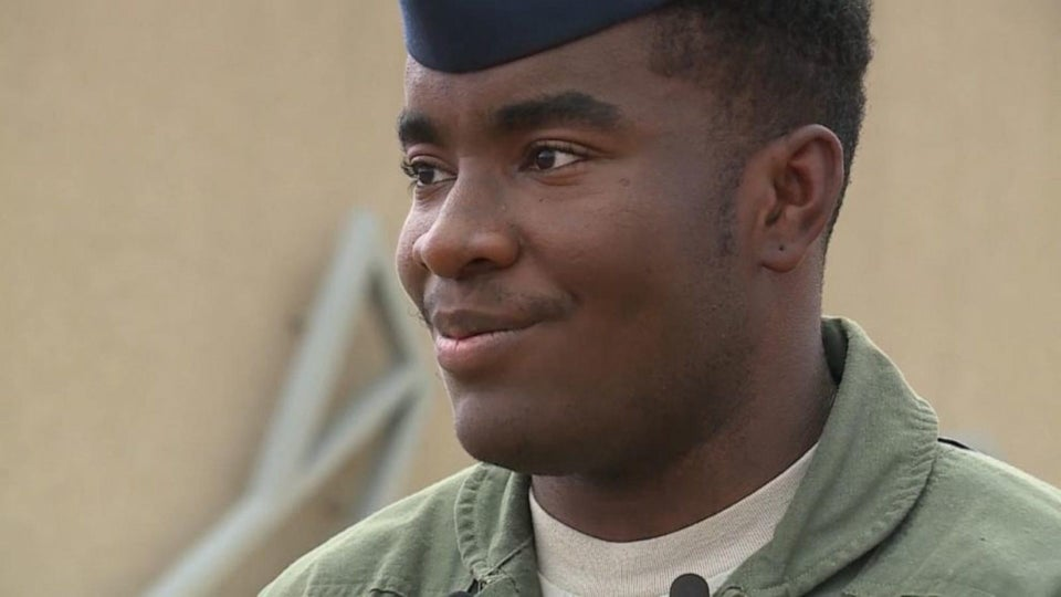 Oklahoma Airman Captured On Video Helping Elderly Woman With Groceries