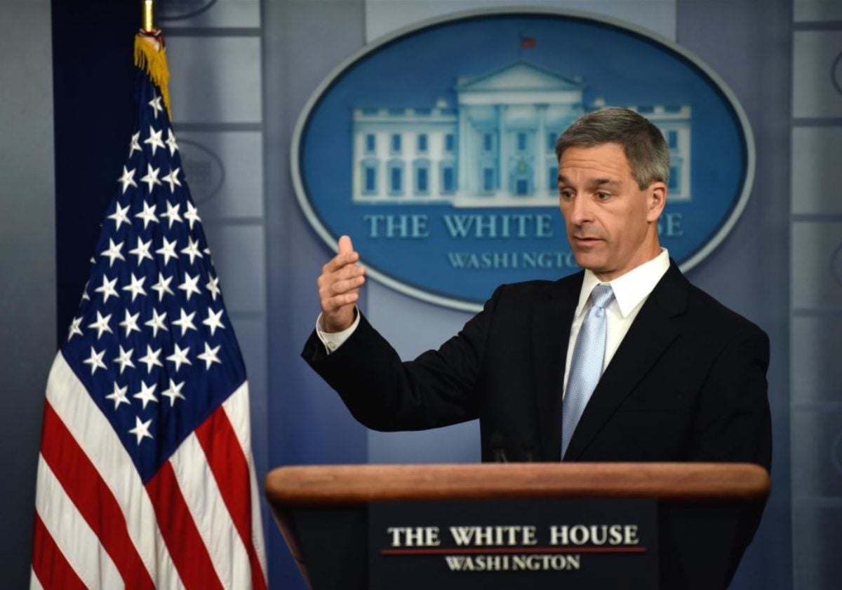 Ken Cuccinelli, Acting Director of U.S. Citizenship and Immigration Services speaking at the White House