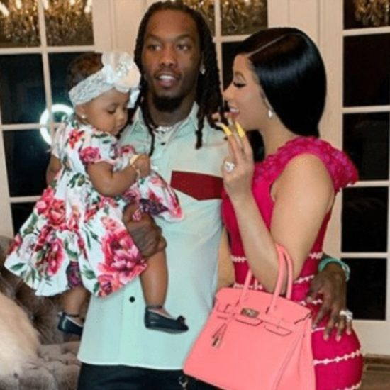 Cardi B. Posts Video Of Offset Laying Kulture's Edges And It's The Cutest Thing