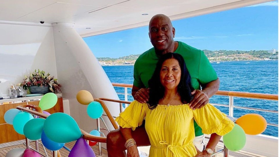 Cookie Johnson Threw Husband Magic Johnson A 60th Birthday Party On Their Yacht
