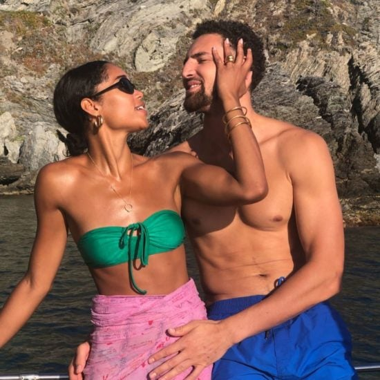 'BlacKkKlansman' Star Laura Harrier and Klay Thompson Confirm Their Relationship With These Baecation Photos