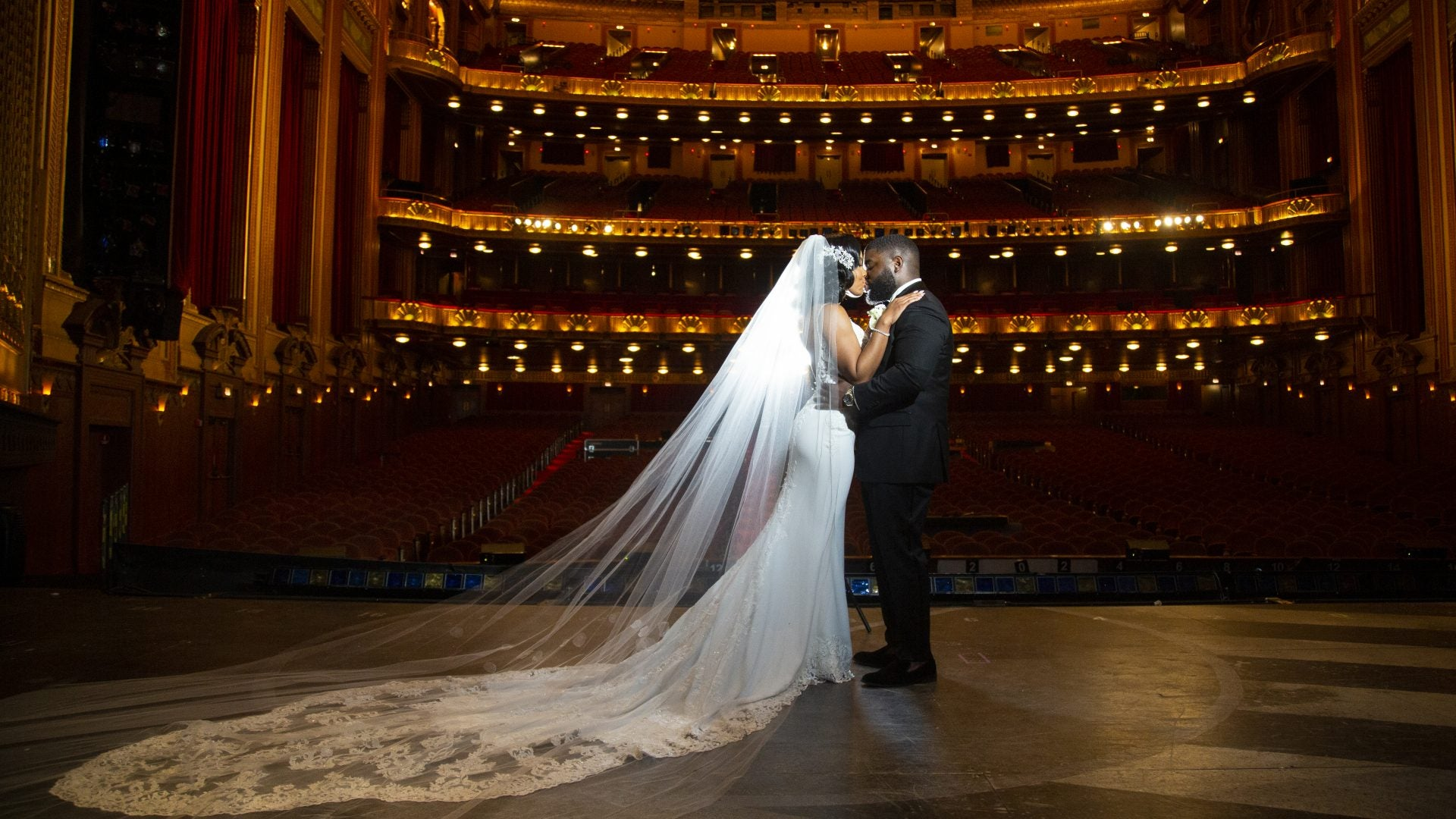 Bridal Bliss: Terrence and Tiffany's Chicago Theater Wedding