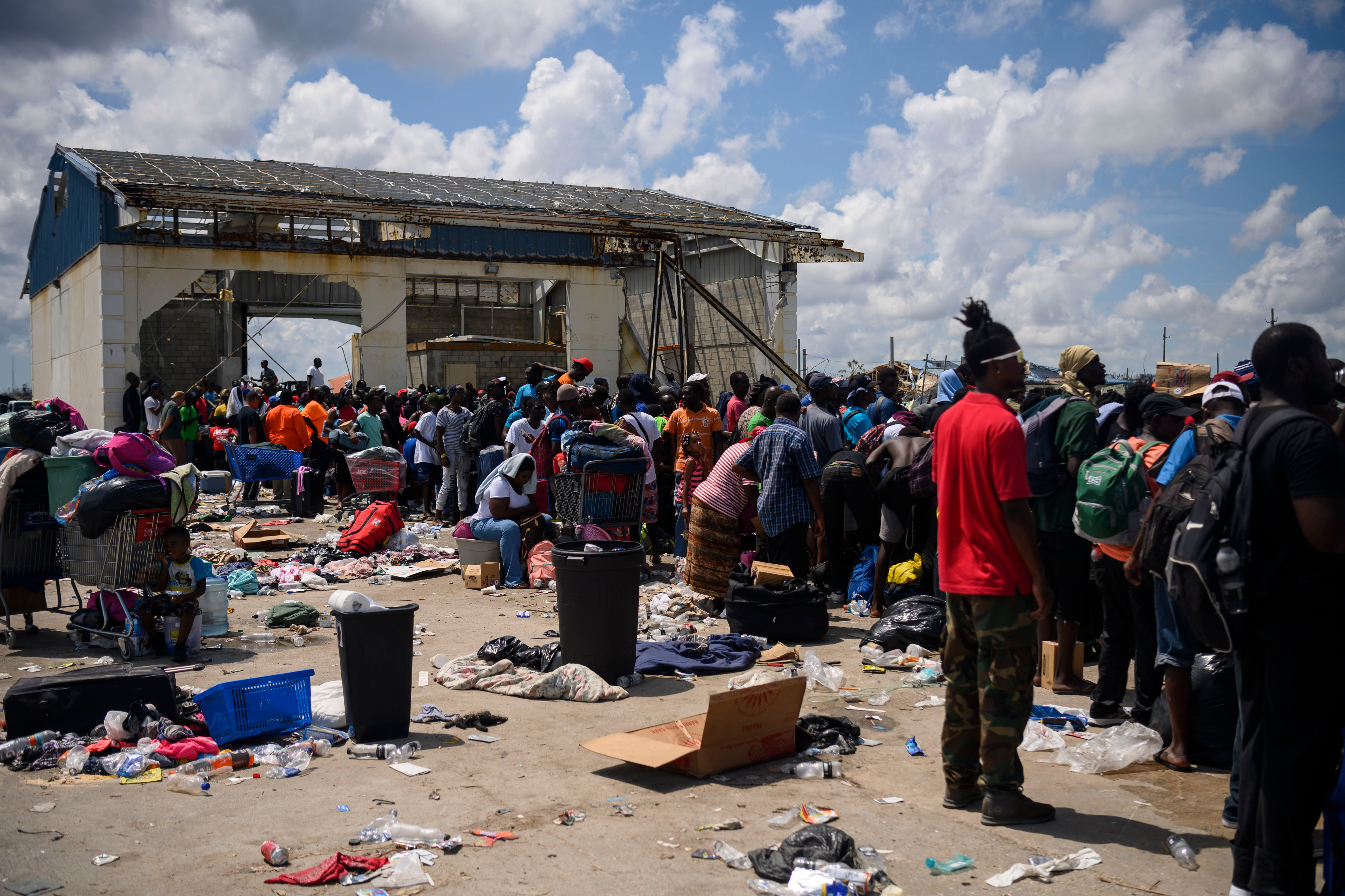 Bahamas evacuees told to get off ferry headed to the U.S.