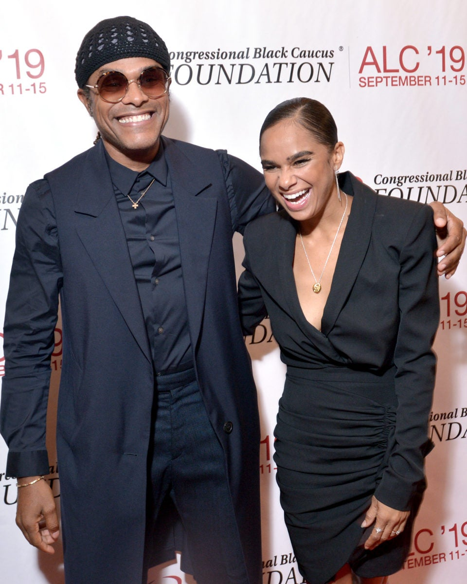 Misty Copeland and Maxwell share a laugh on red carpet
