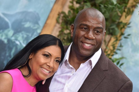 Magic And Cookie Johnson Celebrate Their 28th Wedding Anniversary