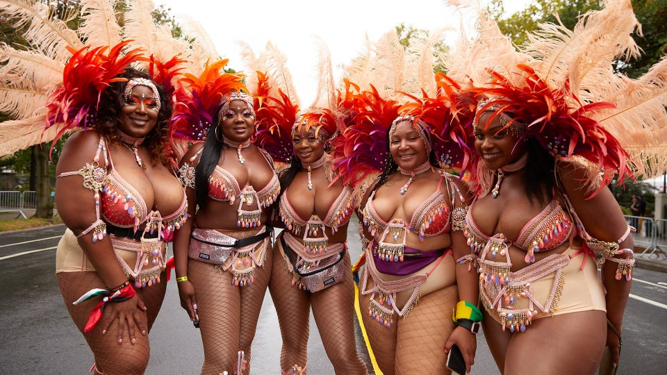 Beauty From The West Indian Carnival Parade In New York City