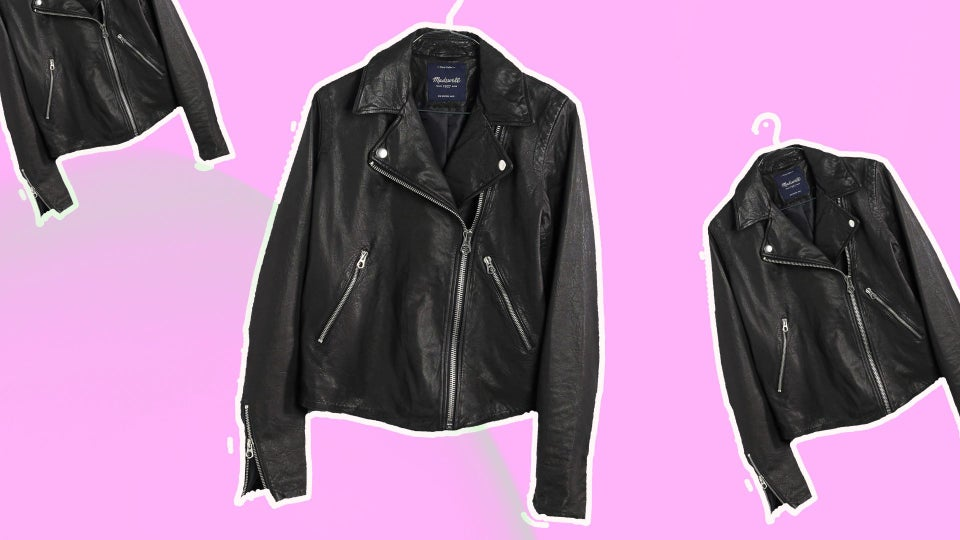 Your Guide To The Perfect Black Leather Jacket For Fall