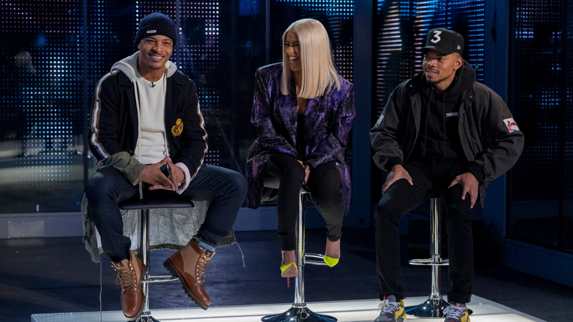 First Look: T I , Chance The Rapper And Cardi B As Judges On