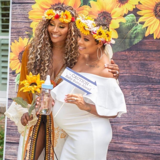 Eva Marcille Shares Gorgeous Photos From Her 'Flower Shower' While Hinting At Baby Number 3's Name