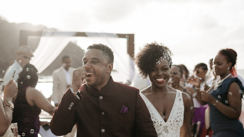 Bridal Bliss: Candice and Hassan's St. Lucia Wedding Had A Royal Feel