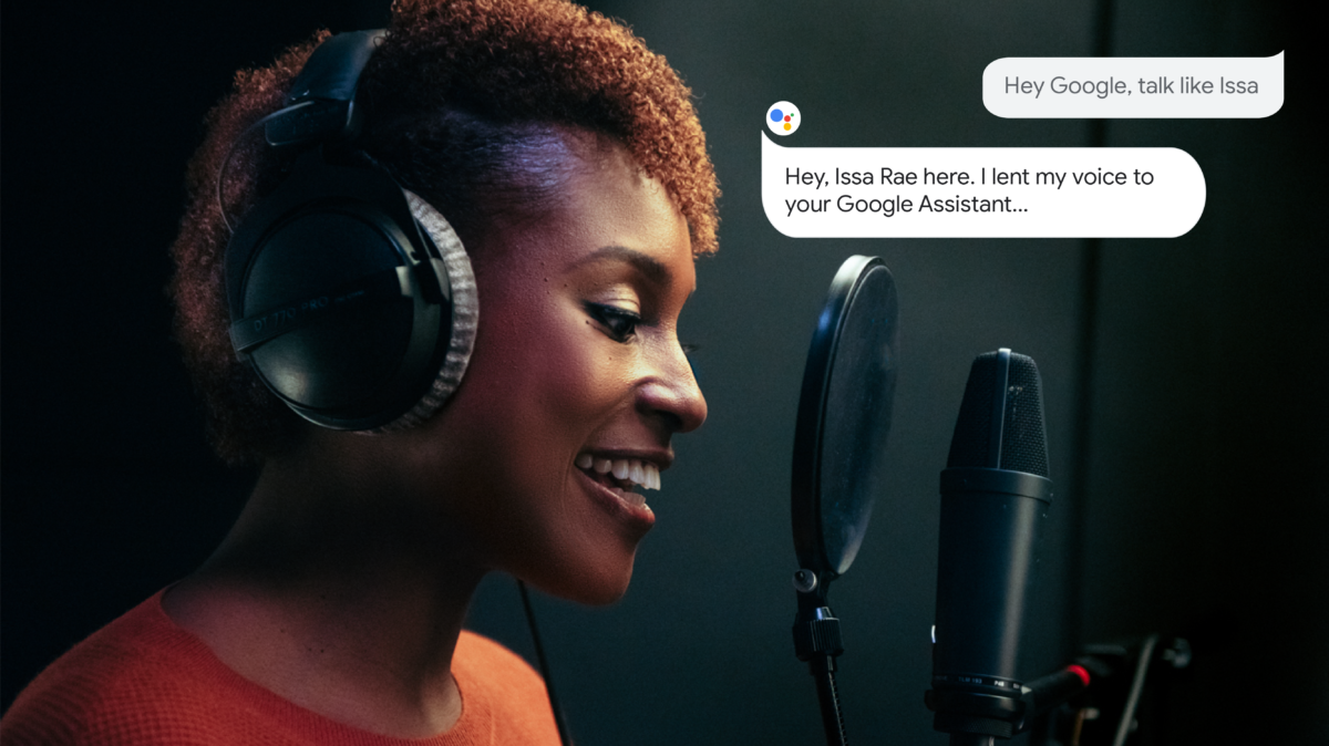 Issa Rae with Google Assistant prompts