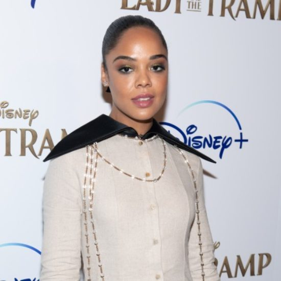 Tessa Thompson's Ribbon Ponytail Is The Holiday Hair Inspiration You Need