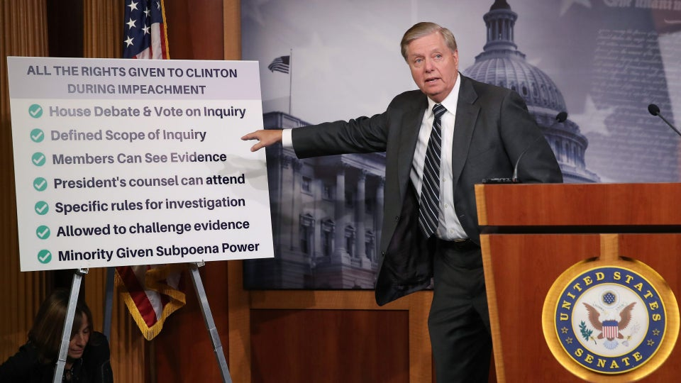 Lindsey Graham Introduces Resolution Demanding Transparency In Impeachment Inquiry