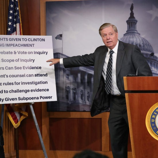 Lindsey Graham Introduces Resolution, Slams Impeachment Inquiry Proceedings