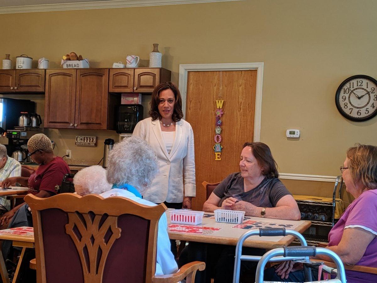Kamala Harris at nursing home in Iowa